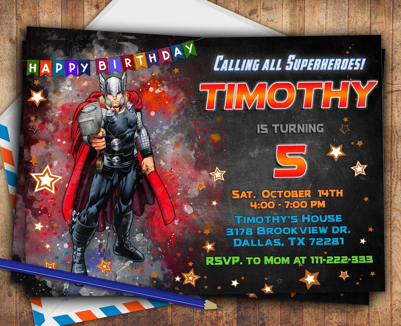 Casa, jardín y bricolaje Personalizado Superhéroe Fiesta Invitaciones de cumpleaños invita aNiños Superhéroes Invitaciones y felicitaciones