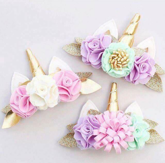Diademas de unicornio para niñas modernos