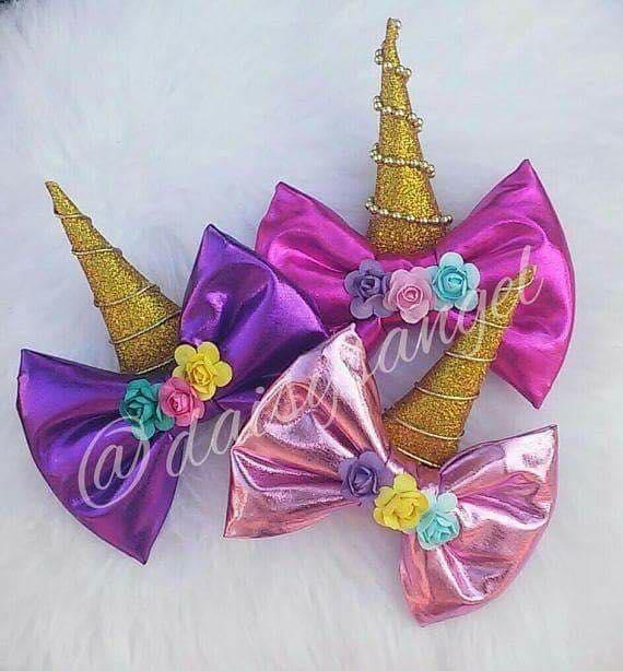 Fotos de Moños y diademas de unicornio para niñas