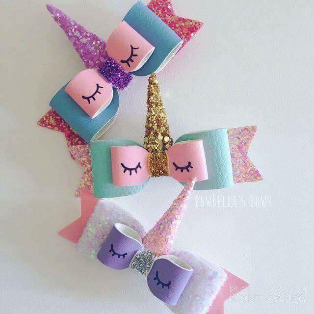 moños y diademas de unicornio para niñas modernos