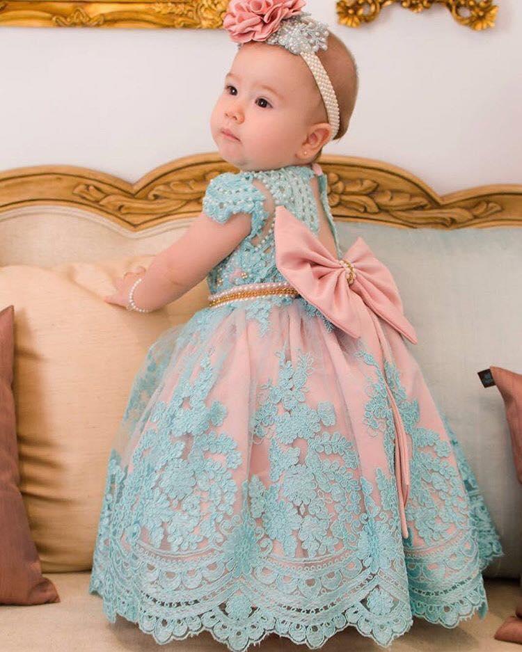 107856cb7 Vestidos de fiesta para niñas   Tendencias 2018 - 2019