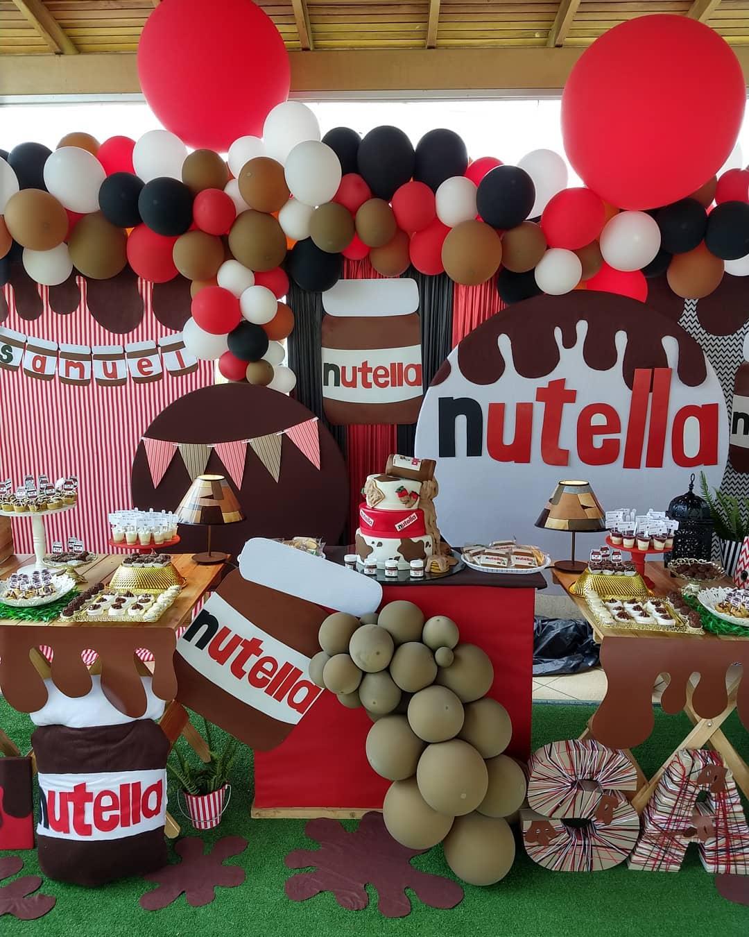 Decoración de Fiesta temática de nutella