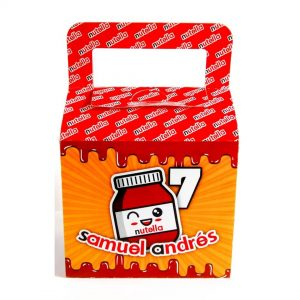 dulceros para fiesta de nutella