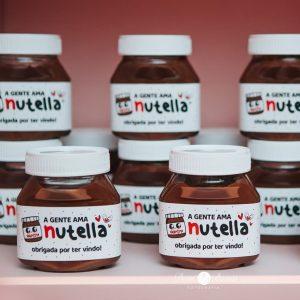 souvenirs para fiesta de nutella